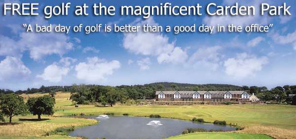 Free Golf at the Magnificent Carden Park